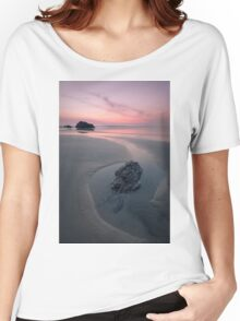 A Soothing Bedruthan Steps, Cornwall Sunset Women's Relaxed Fit T-Shirt