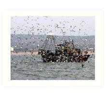 Retour au port ,Essaouira , marocco  Art Print