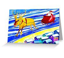 Rudolph and Santa Greeting Card