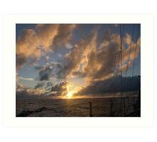 classic Sun set  Art Print