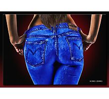 A Girl in Jeans Photographic Print
