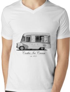 Castles Ice Cream est. 1843 Mens V-Neck T-Shirt