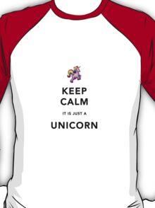 Keep Calm is Just a Unicorn  T-Shirt