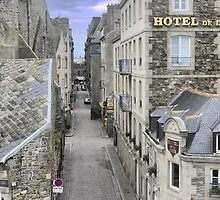 The St.Malo Town ( 2 ) by Larry Lingard-Davis
