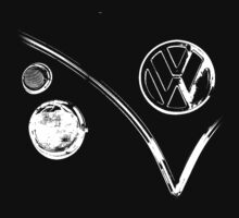 Volkswagen Kombi - BW by blulime