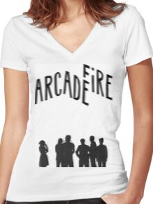 Arcade Fire  Women's Fitted V-Neck T-Shirt
