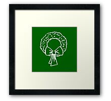 Vintage Green Christmas Wreath with Ribbon Framed Print