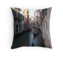 Venice Canal Gondola Ride Throw Pillow