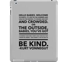 Vonnegut Quote iPad Case/Skin