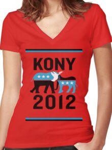 """Joseph Kony T-shirt"" Original Style T-Shirt Kony 2012 Women's Fitted V-Neck T-Shirt"