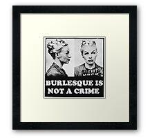 Burlesque Mugshot Framed Print