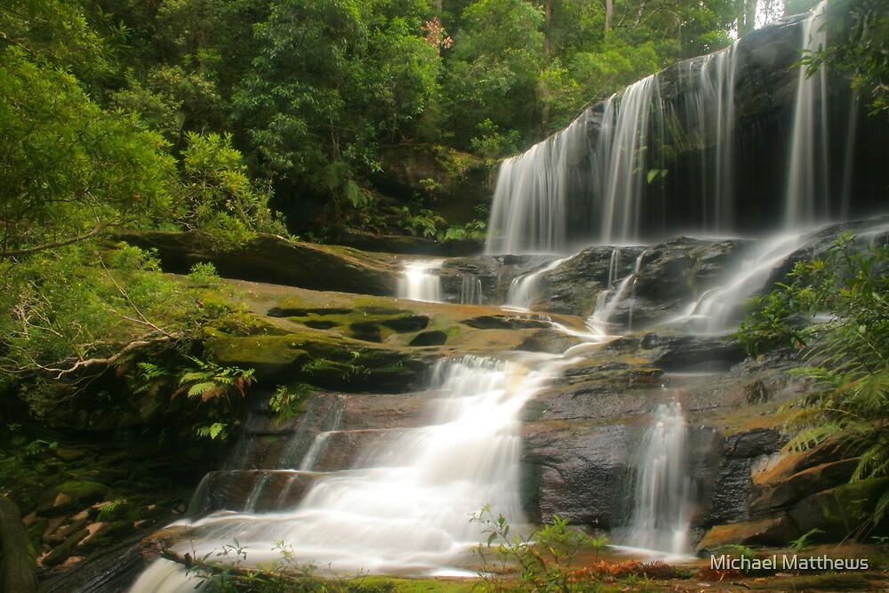 Lower Somersby Falls .. glowing by Michael Matthews