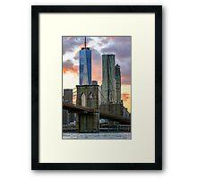 Fall Sunset Downtown New York Framed Print