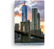 Fall Sunset Downtown New York Canvas Print