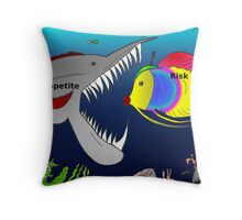 Binary Options News Cartoon Appetite for Risk Throw Pillow