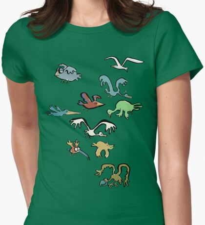 and the sky was full of birds Womens Fitted T-Shirt