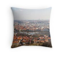 View from Petřín Lookout Tower Throw Pillow