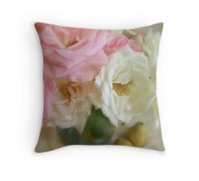 Roses & Pears Throw Pillow