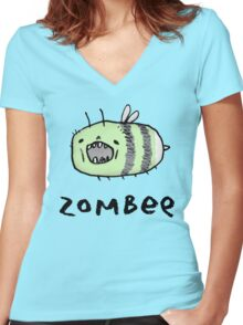 Zombee Women's Fitted V-Neck T-Shirt