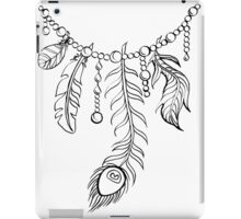 Necklace with Feathers and Pearls iPad Case/Skin
