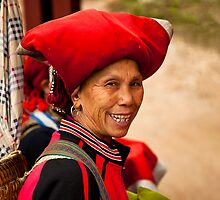 Lady from the Red Dzao tribe by Janette Anderson