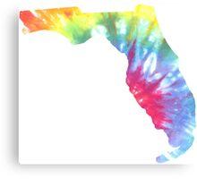 Florida Tie Dye Block Print Canvas Print