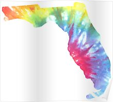 Florida Tie Dye Block Print Poster