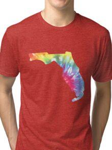Florida Tie Dye Block Print Tri-blend T-Shirt