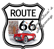 Route 66 vintage stylist america highway gifts by chumi