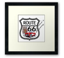 Route 66 vintage stylist america highway gifts Framed Print
