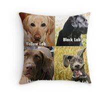 labradors Throw Pillow