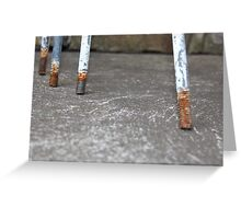 Antique Cast Iron Pipe Brackets 2 Greeting Card