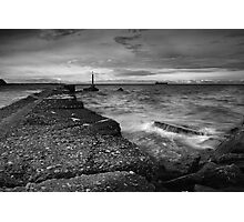 Yacht Club in Black and White Photographic Print