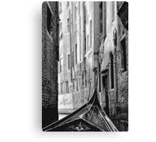 Back Street Gondola Canvas Print