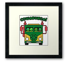 Cowabunga Party Wagon! Framed Print