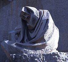 Sagrada Familia Cruxifiction Facade, Barcelona by Sue Ballyn