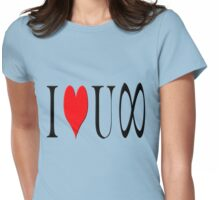 I love you infinity Womens Fitted T-Shirt