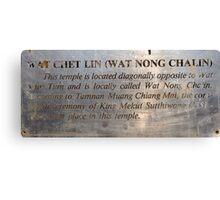 Wat Chet Lin  Canvas Print