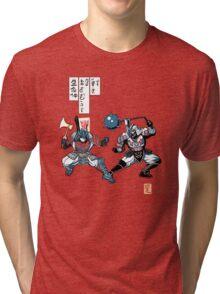 Tatakae Chou Samurai Seimeitai! Tri-blend T-Shirt