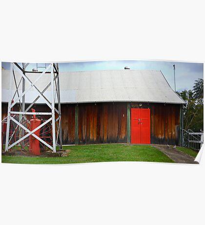 The Red Barn Door Poster