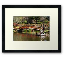 The Red Bridge Framed Print