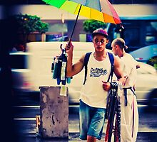 the umbrella salesman by Claudio Pepper