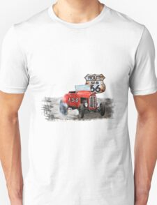Race car in America higway rustic designer. T-Shirt