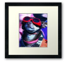 Attitude is the orientation relative to the mind  Framed Print