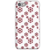 Vintage Red Snowflakes Pattern iPhone Case/Skin