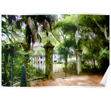 The Gate To The Edgar Fripp House - Historic Beaufort, South Carolina USA Poster