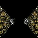 Cog and Gear Butterfly Wing Back Shirt by Amy-Elyse Neer