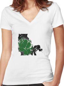 T-shirt clover Women's Fitted V-Neck T-Shirt