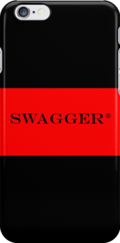 Swagger®  iPhone®  and iPod®  Case - RED Strip Design by swaggershop
