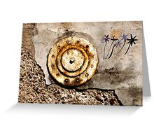 THE WALL FLOWER Greeting Card